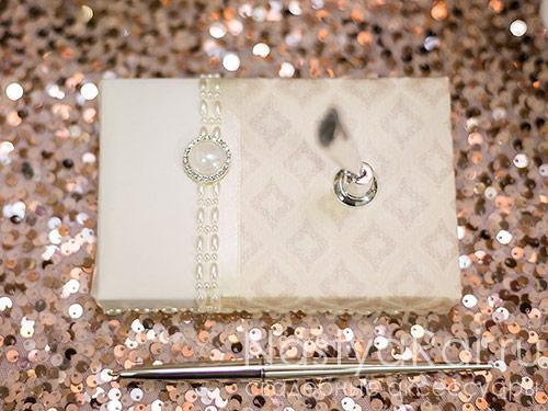 """Свадебная ручка на подставке """"Гэтсби"""""""