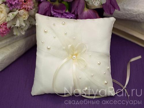 Как сделать подушечку для колец на свадьбу
