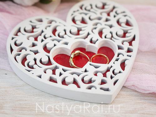 """Подставка для колец в виде сердца """"Love"""""""