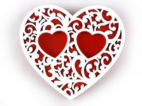 Подставка-сердце, красная