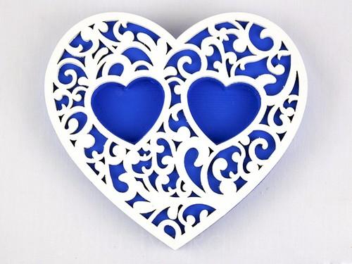 Подставка-сердце, синяя