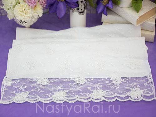 Кружевной рушник для свадьбы. Белый