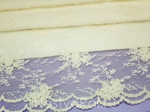 Кружевной рушник для свадьбы. Айвори