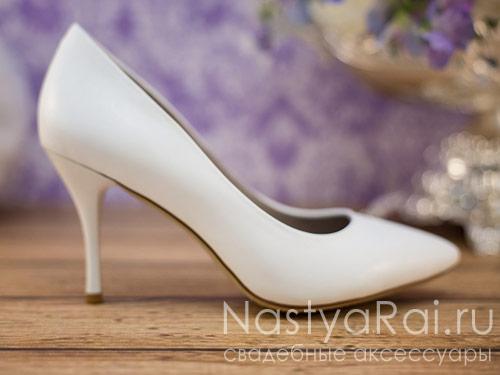 Классические свадебные туфли-лодочки