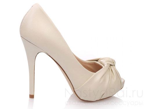 Свадебные туфли из натуральной кожи