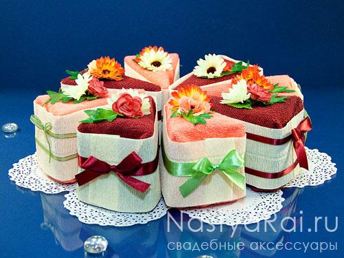 Сувенир полотенце - кусочек торта
