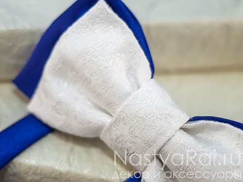"Синий галстук-бабочка ""Фарфор"""