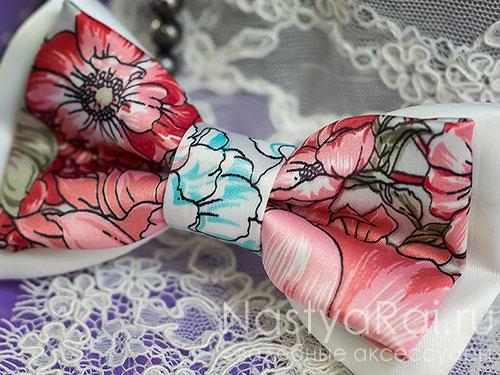 "Галстук-бабочка ""Английский сад"""