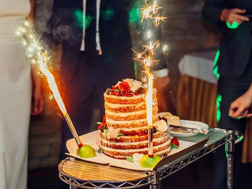"""Холодный фейрверк """"Фонтан"""" для торта, 4 шт"""