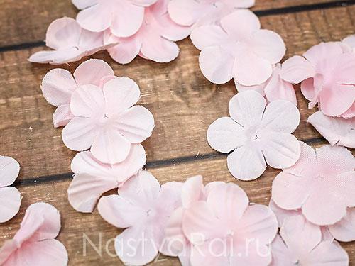 Искусственные цветочки для обсыпания, розовые