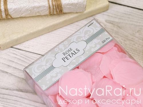 Лепестки роз светло-розовые 300 шт