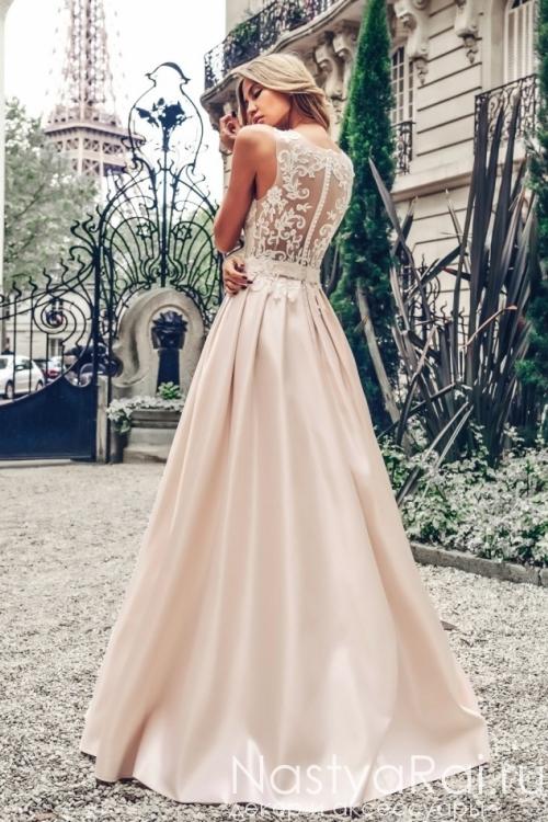 Свадебное платье с атласной юбкой Anna RosyBrown 1806 Amelia