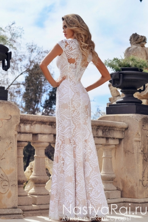 Кружевное свадебное платье-русалка ND228