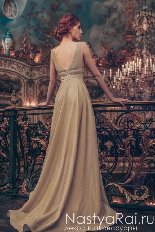 Элегантное золотое платье ZML025