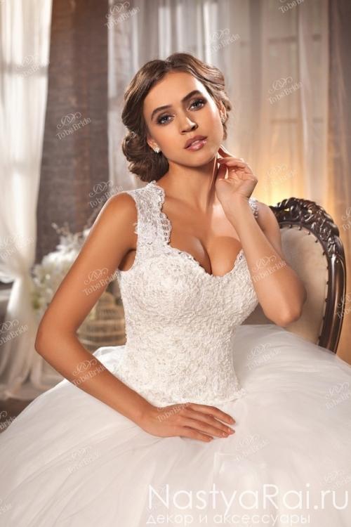 Пышное свадебное платье А-силуэта IK004