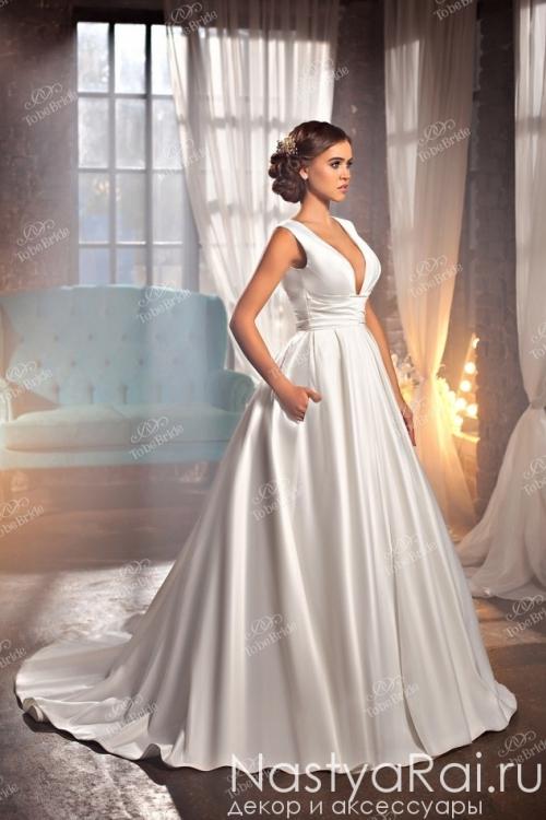 Длинное открытое свадебное платье BR003
