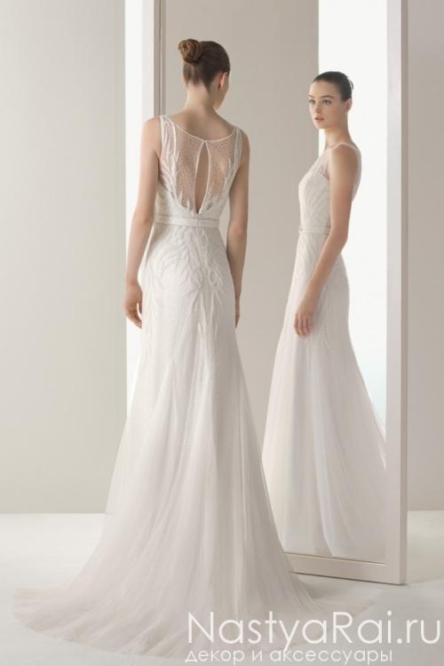 Свадебное платье с жемчугом ROSA CLARA 8K02