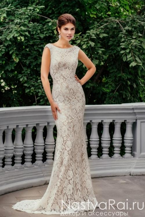 Свадебное платье-русалка со съемным шлейфом ZCD003