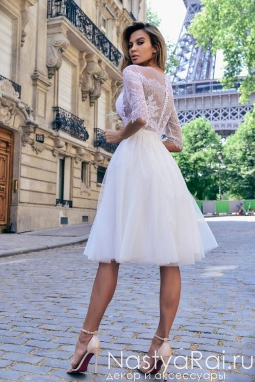 Фатиновая юбка с кружевным болеро Anna RosyBrown 1808 Angelina