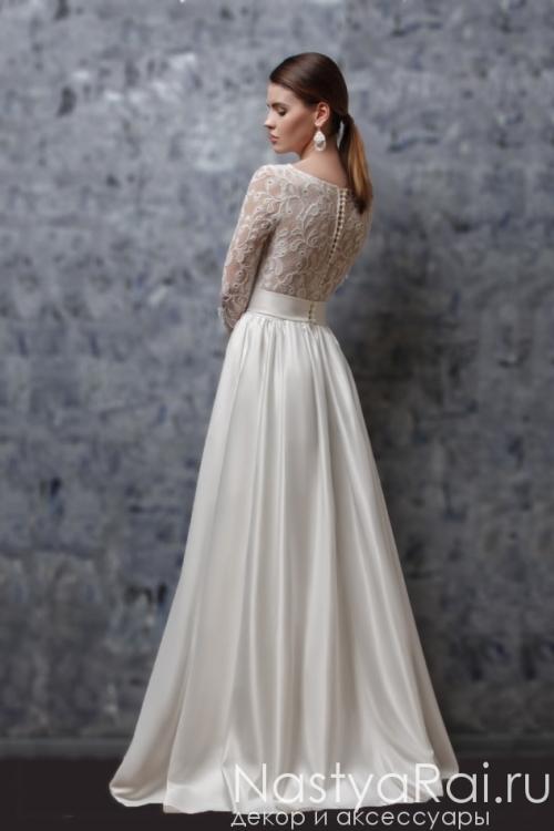 Закрытое платье для венчания ZOF005