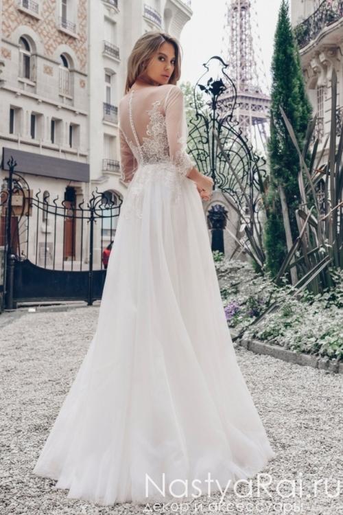 Шифоновое свадебное платье Anna RosyBrown 1807 Anastasia