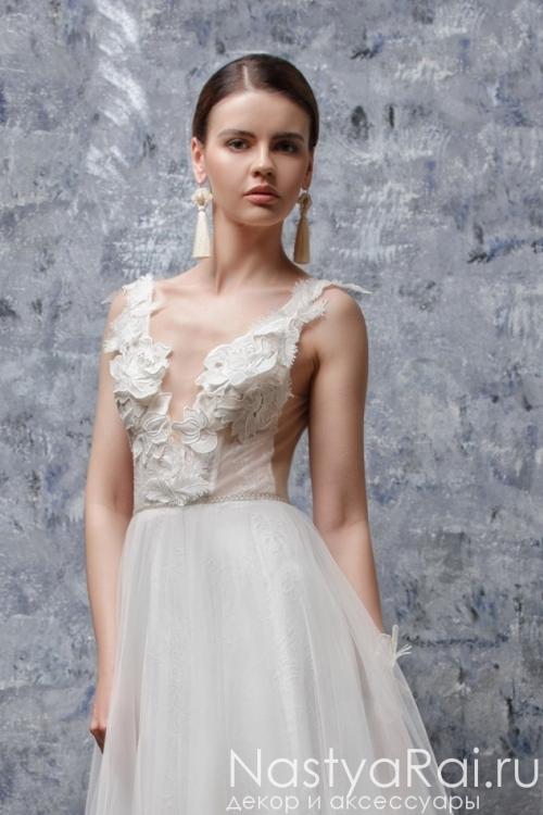 Открытое свадебное платье ZOF004