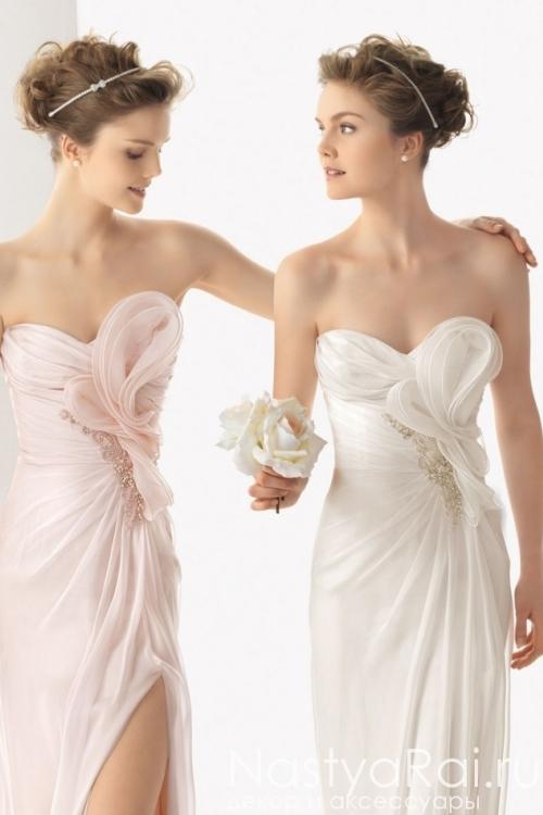 Свадебное платье из шифона ROSA CLARA 7K32