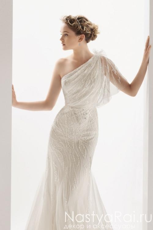 Свадебное платье из фатина с вышивкой ROSA CLARA 7K03