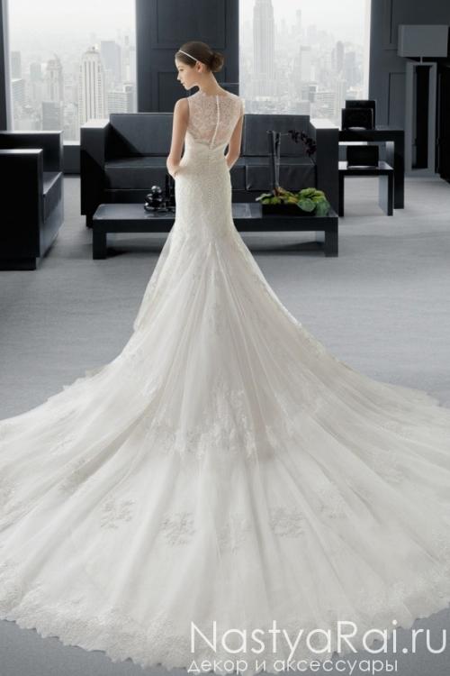 Кружевное свадебное платье-русалка ROSA CLARA 7A88