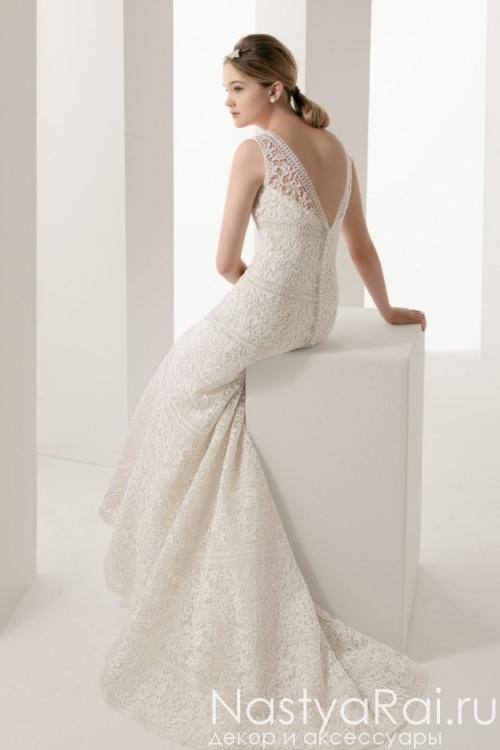 Свадебное кружевное платье на широких лямках ROSA CLARA 7A74