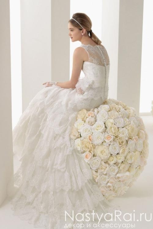 Кружевное свадебное платье ROSA CLARA 7A68
