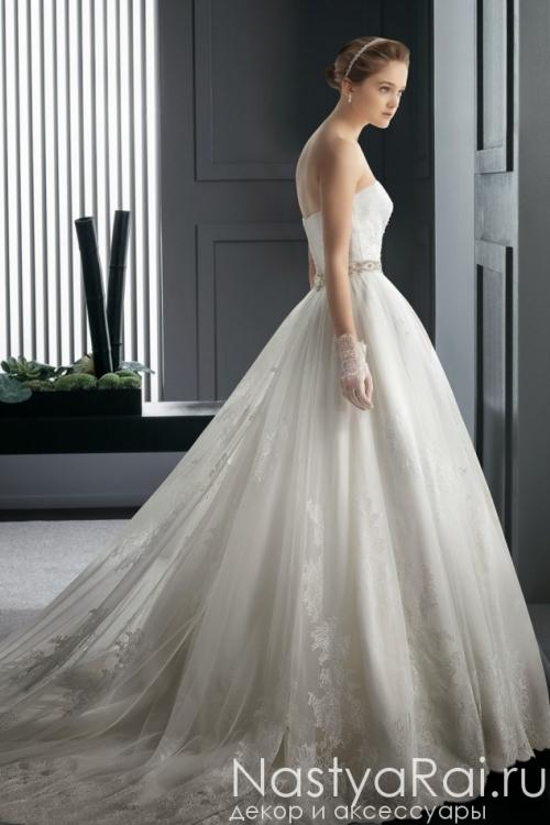 Пышное свадебное платье с шлейфом ROSA CLARA 7A11