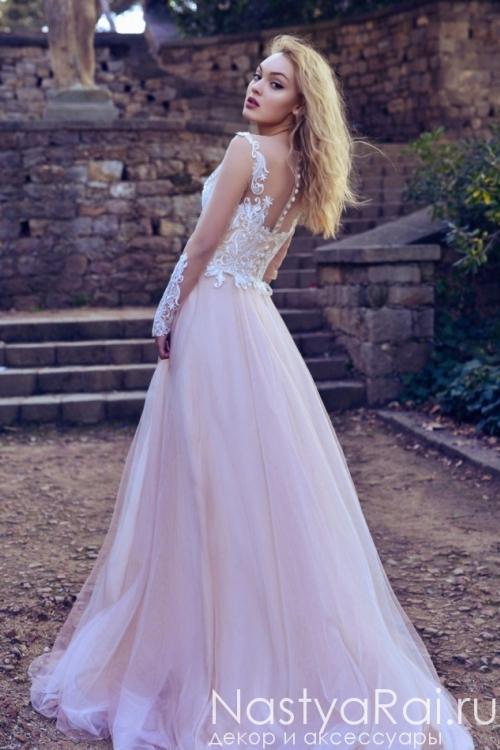 Свадебное платье с длинными рукавами Anna RosyBrown 1816 Britney