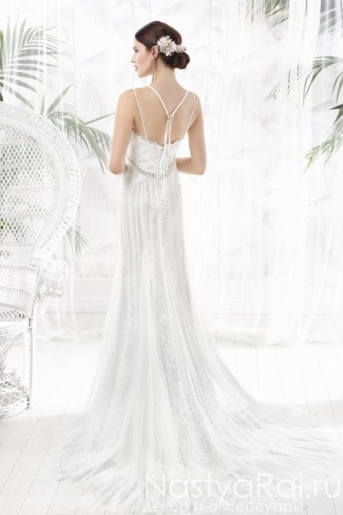 Свадебное платье с нитями в греческом стиле VALERIO LUNA VL5810