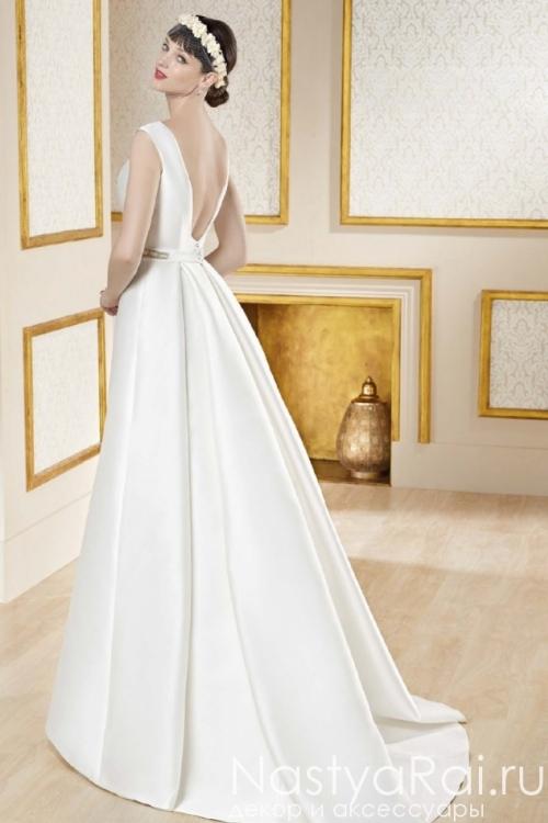 Свадебное платье с расшитым поясом MANU GARCIA MG0817