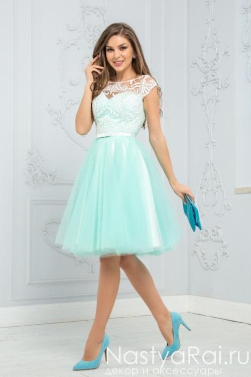 Коктейльное платье с пышной юбкой ZEK026B
