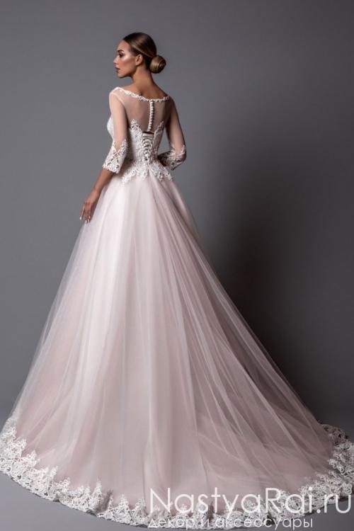 Пышное свадебное платье с кружевом ZBZ003