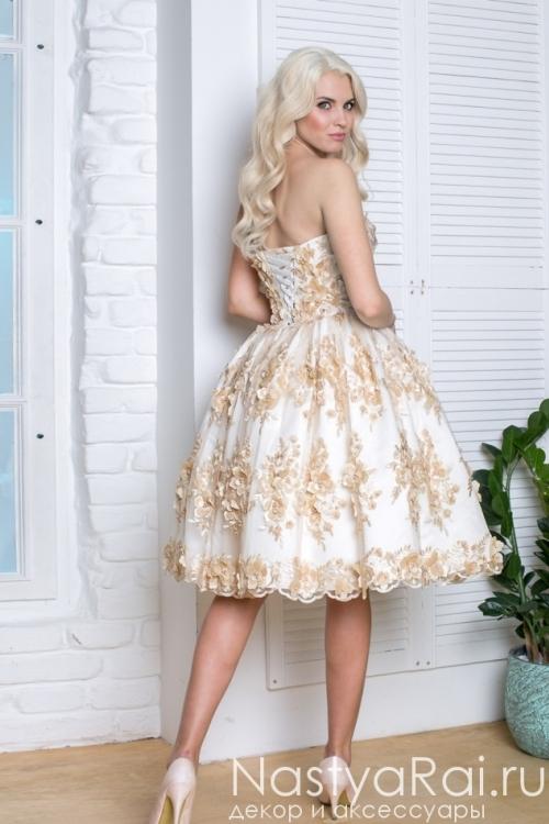 Коктейльное платье с пышной юбкой VF012B
