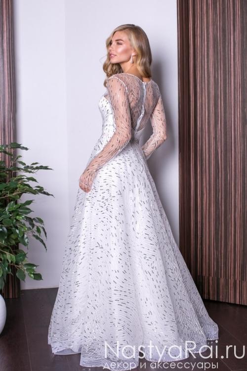 Нежное кокетливое вечернее платье в пол RB022B
