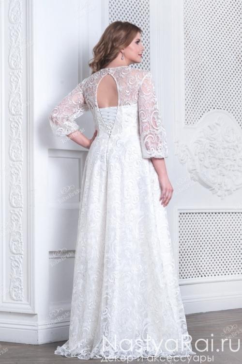 Длинное свадебное платье из кружева TB073