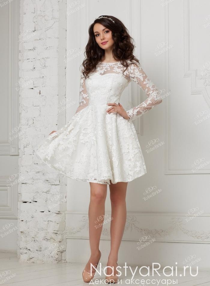 Платье-футляр с рукавом 1/2 клеш