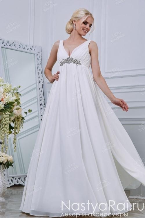 Свадебное платье с камнями и бисером RB007