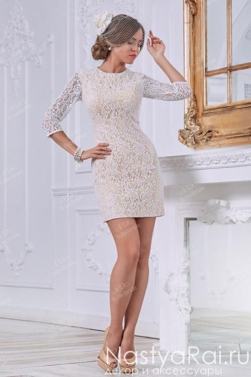 Свадебное платье-трансформер из кружева MC076