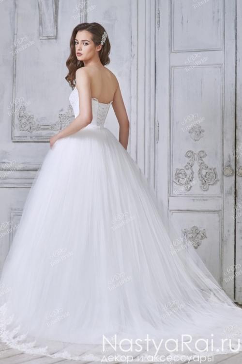 Длинное пышное свадебное платье NS009