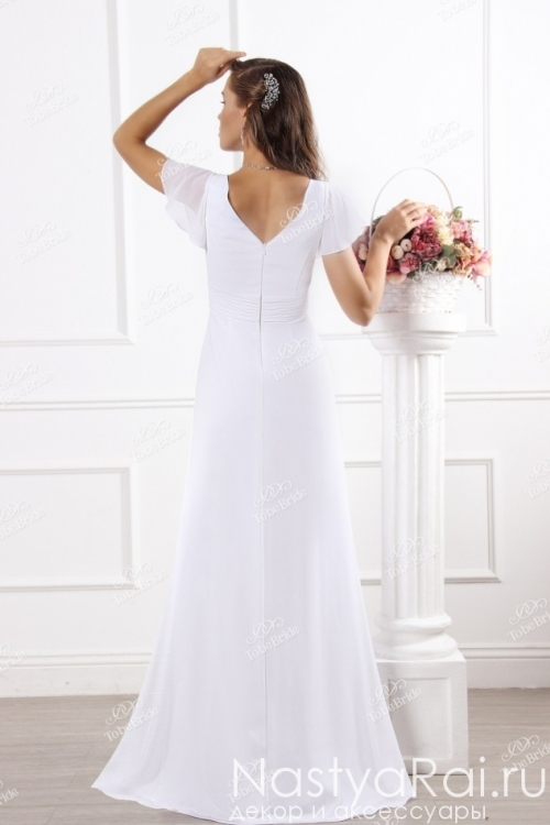 Свадебное платье с завышенной талией SL0173