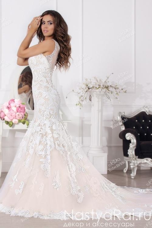 Свадебное платье с инкрустацией SL0180