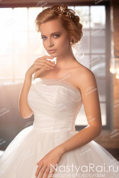 Пышное корсетное свадебное платье BR004