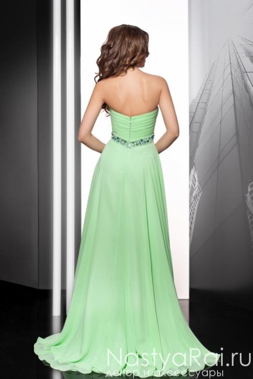 Вечернее платье молочно-зеленого цвета MC044B