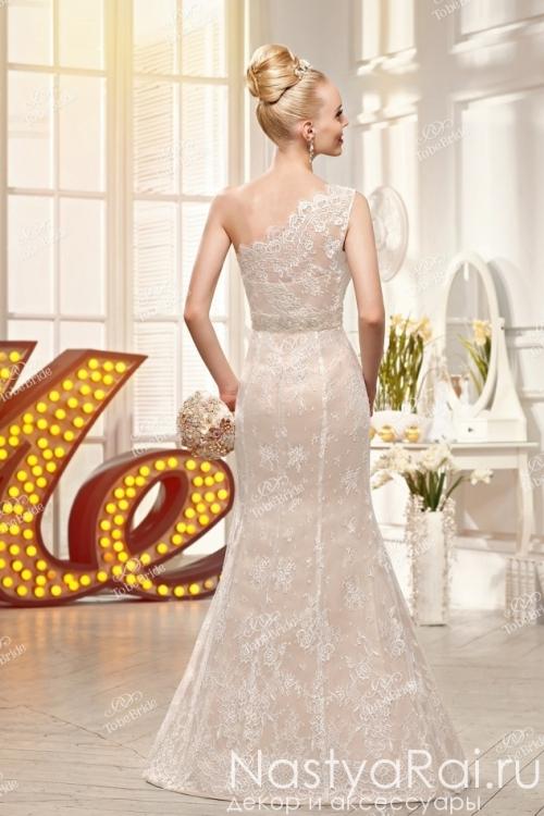Длинное свадебное платье с кружевами SL0157
