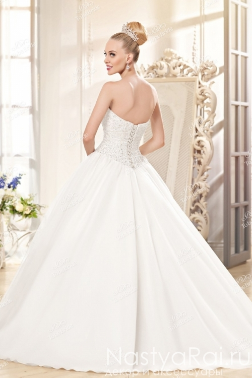 Свадебное платье со стразами и пайетками KP0088